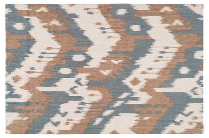 Sam Flat-Weave Rug, Blue/Multi