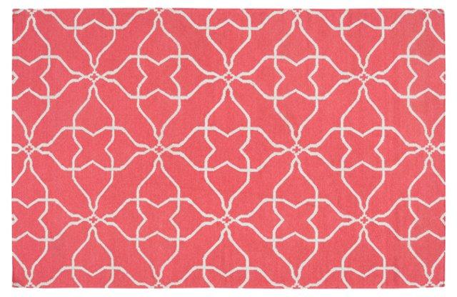 Char Flat-Weave Rug, Pink