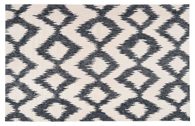 Kendall Flat-Weave Rug, Ink