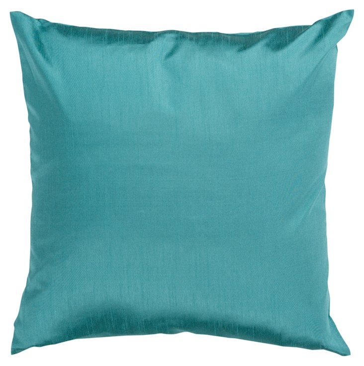 Sheen 18x18 Pillow, Teal Blue