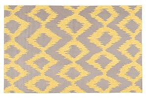 5'x8' Baron Flat-Weave Rug, Lemon