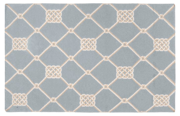 2' x 3' Roy Flat-Weave Rug, Stormy Sea