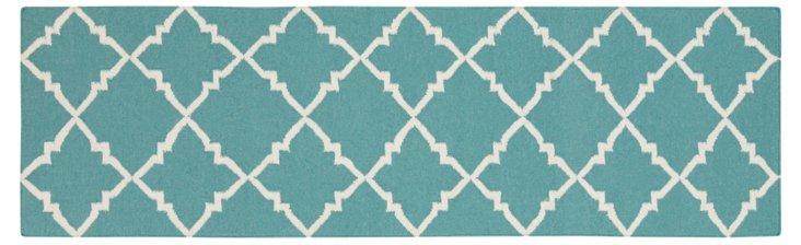 Athena Flat-Weave Rug, Teal