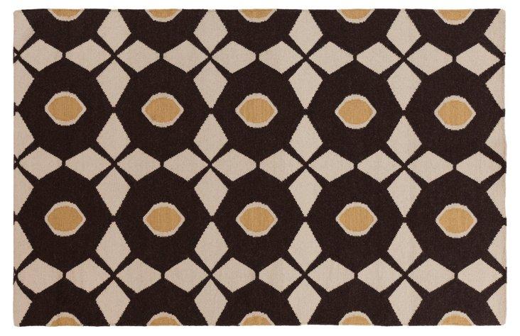 8'x11' Eros Flat-Weave Rug, Espresso