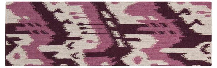 """2'6""""x8' Sam Flat-Weave Runner, Prune"""