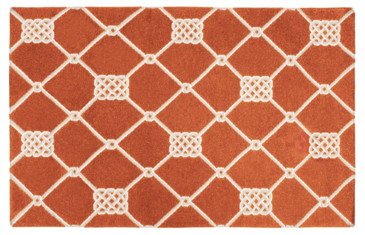 8'x11' Roy Flat-Weave Rug, Red
