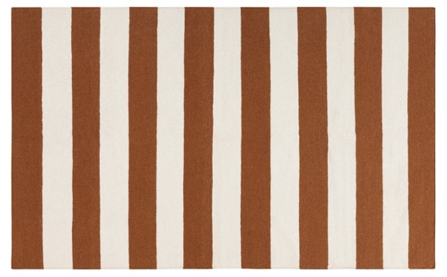 Hermes Flat-Weave Rug, Sepia