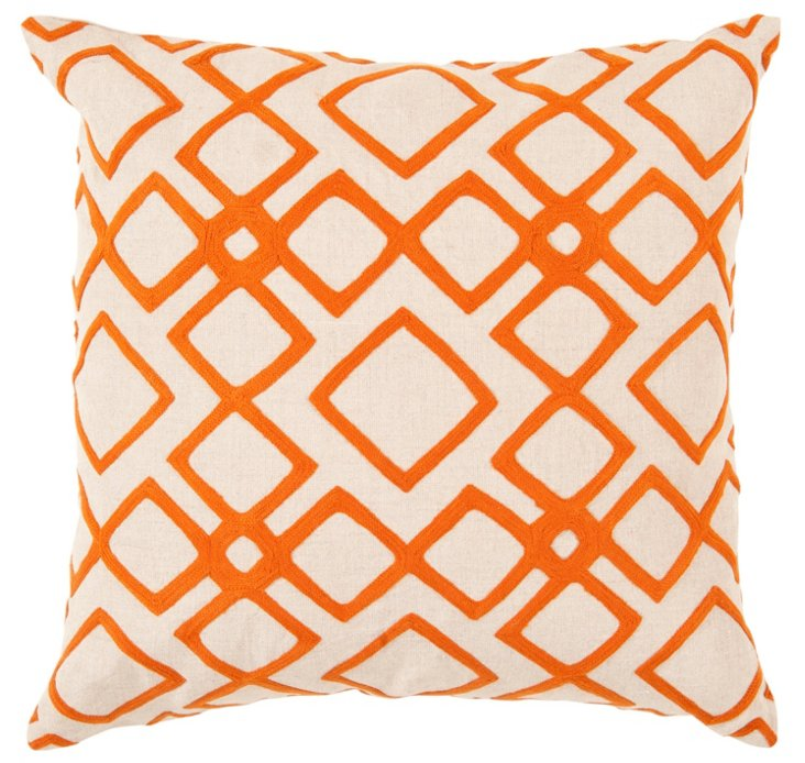 Mill Linen Pillow, Orange