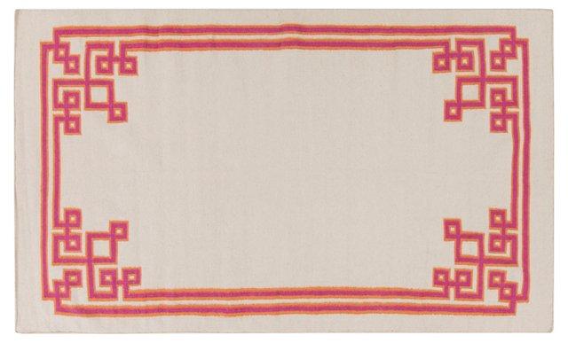 Alameda Flat-Weave Rug, Ivory