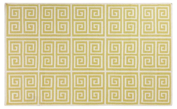 Praxis Flat-Weave Rug, Lime