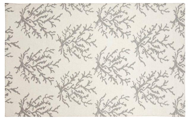 Reef Flat-Weave Rug, White