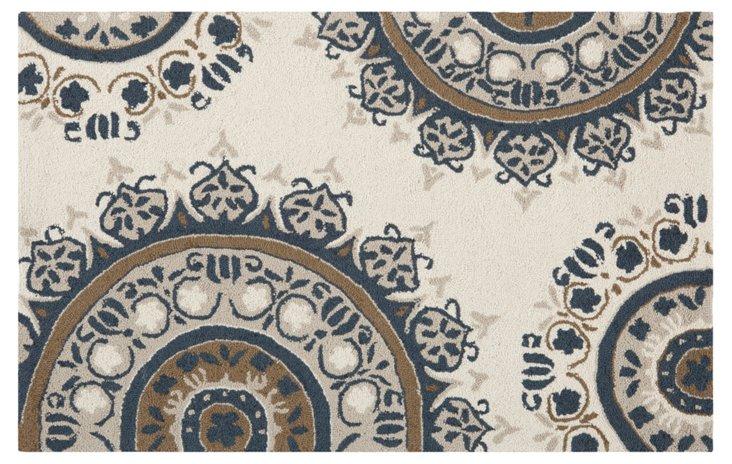 Aniwa Rug, Ivory/Blue/Gray