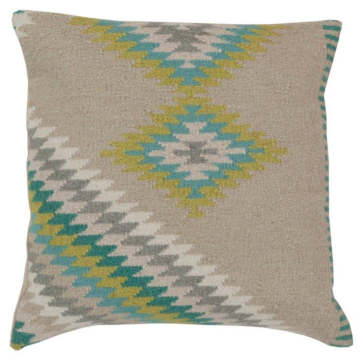 Tahirah Linen Pillow, Gray