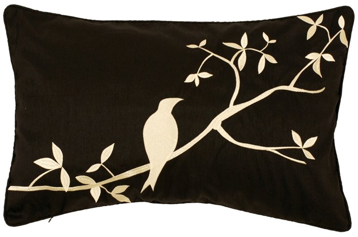 Bird 13x20 Pillow, Black