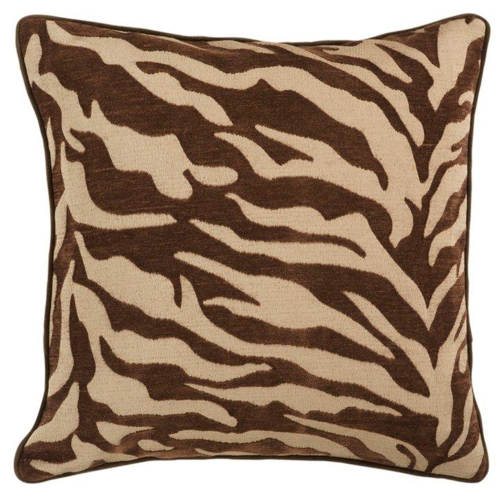 Zebra Pillow, Brown
