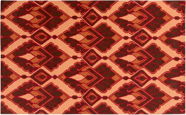 Tolosa Flat-Weave Rug, Burnt Umber