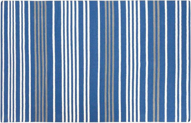 5'x8' Phobos Flat-Weave Rug, Blue