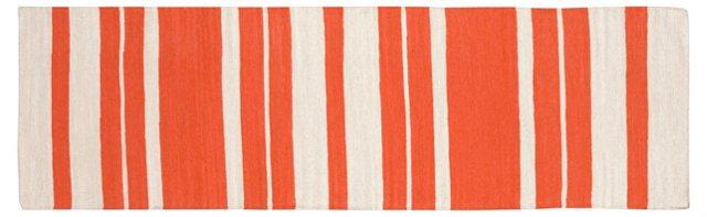"""2'6""""x8' Rose Flat-Weave Runner, Paprika"""