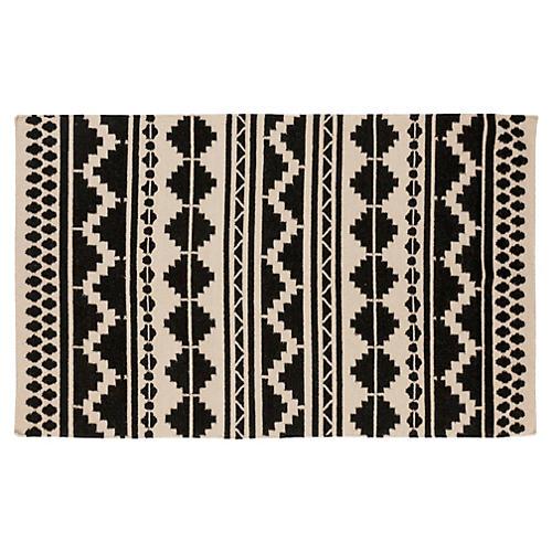 Malia Flat-Weave Rug, Gray