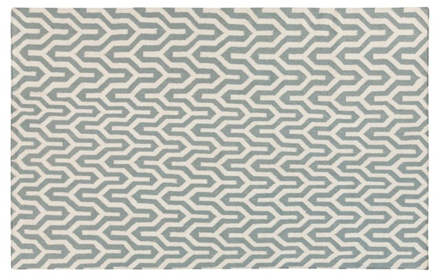 Aynsley Flat-Weave Rug, Green