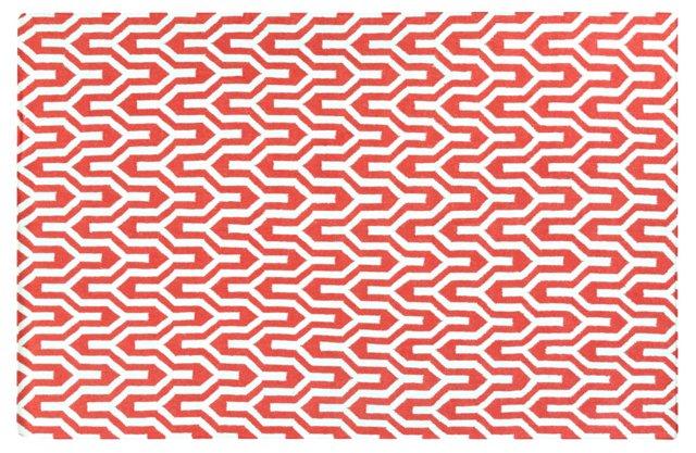 Aynsley Flat-Weave Rug, Strawberry