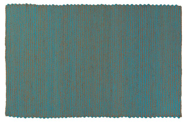 Steffen Jute Rug, Camel/Blue