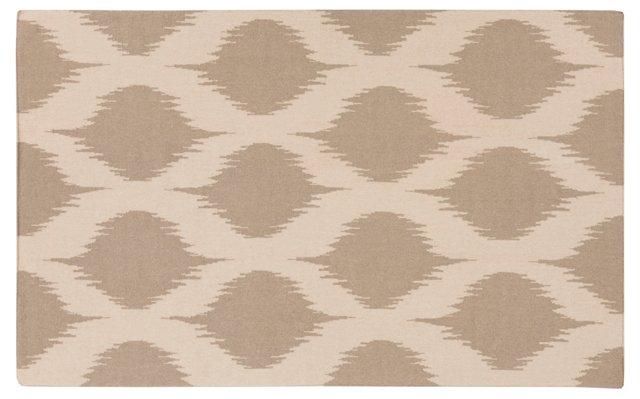 Leduc Flat-Weave Rug, Ivory