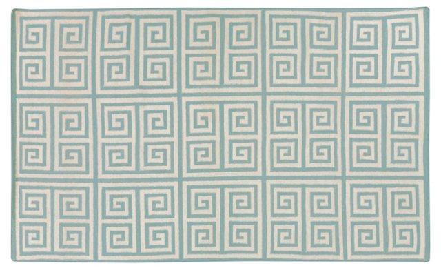 Praxis Flat-Weave Rug, Cloud Blue