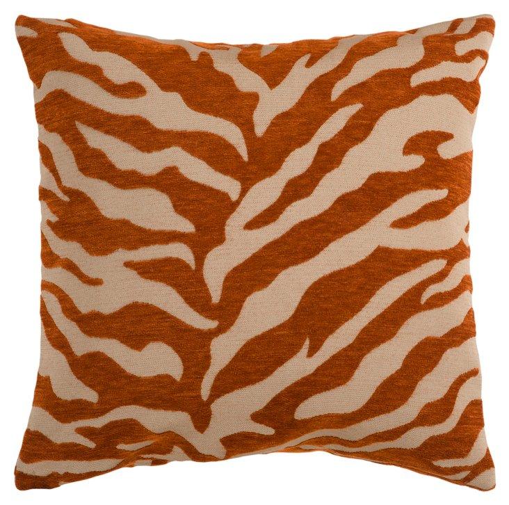 Zebra Pillow, Rust/Beige