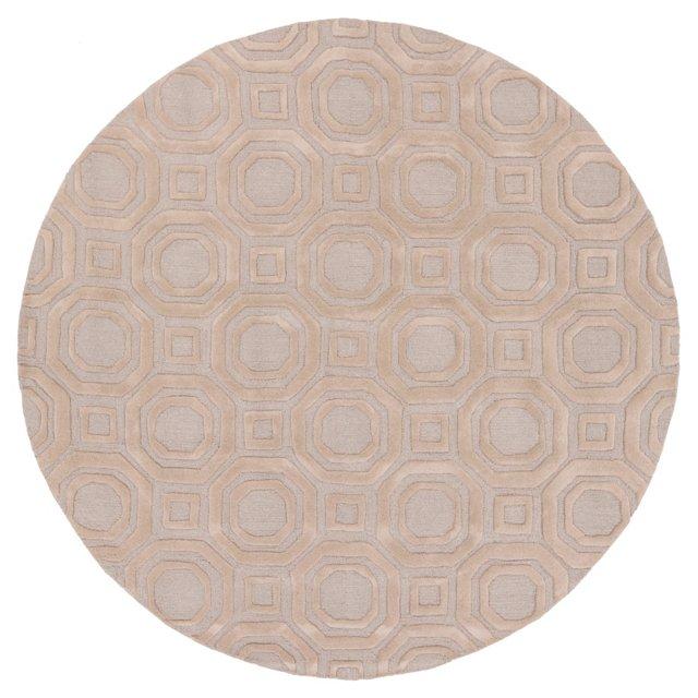 8' Round Kimberly Rug, Taupe/Gray