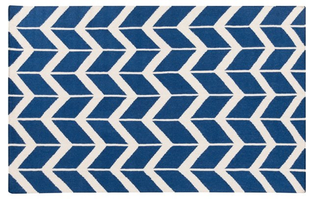Haven Flat-Weave Rug, Blue