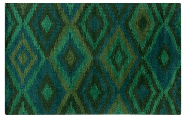 8'x11' Prince Rug, Green