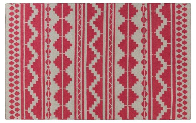 Malia Flat-Weave Rug, Red