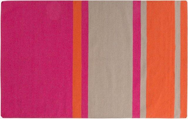 Lyssa Flat-Weave Rug, Pink