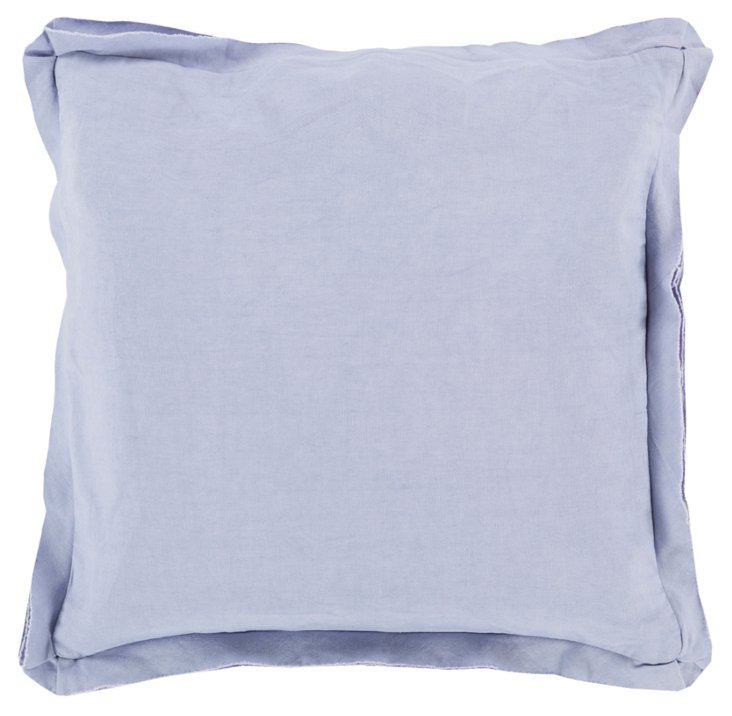 Soft Cotton Pillow, Blue
