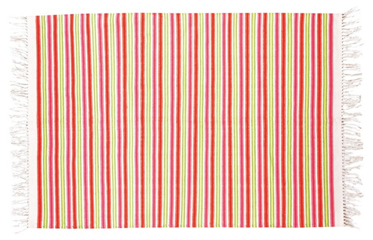 Stripes Flat-Weave Rug, Multi