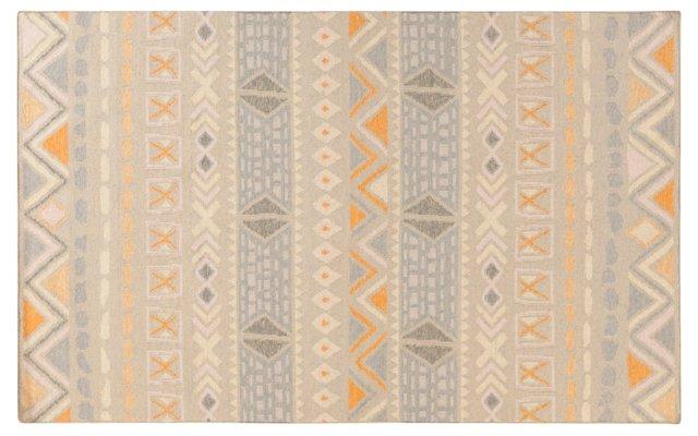 Valles Flat-Weave Rug, Ivory