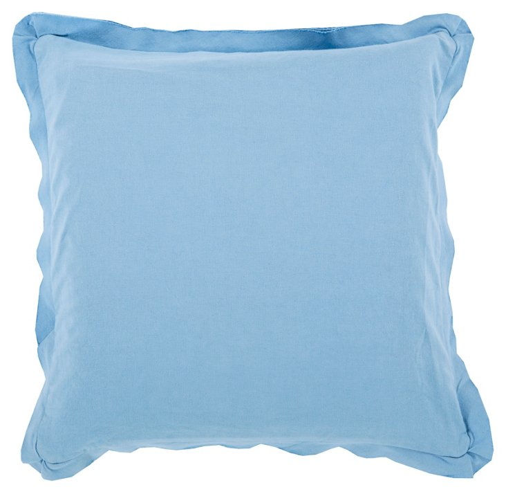 Inure Cotton Pillow, Blue
