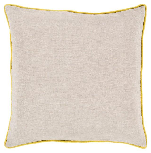 Shanna Linen Pillow, Yellow