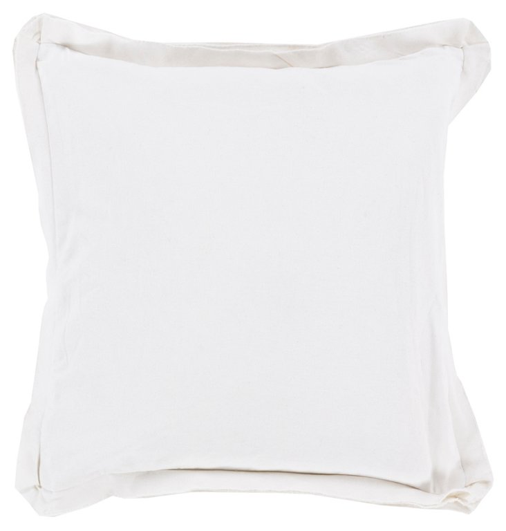 Iggy Cotton Pillow, White