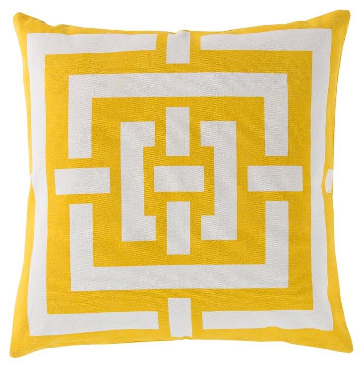 Link 20x20 Cotton Pillow, Yellow