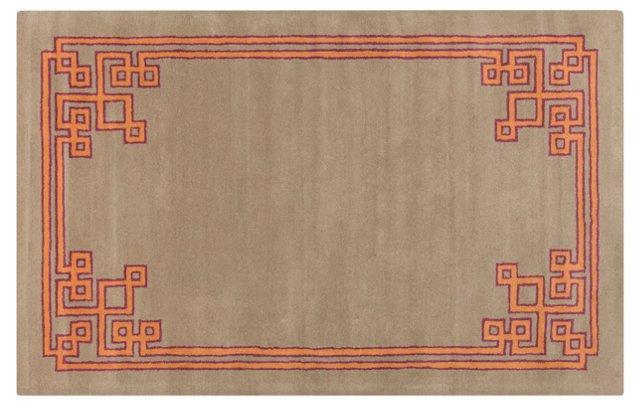 Alameda Rug, Neutral/Orange