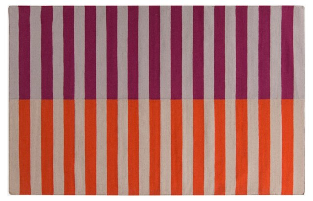 Grainger Flat-Weave Rug, Orange