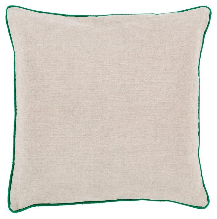 Shanna Linen Pillow, Green