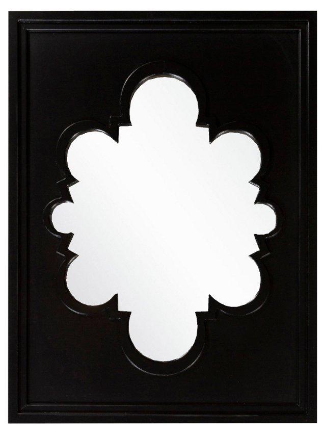 Baltic Wall Mirror, Black