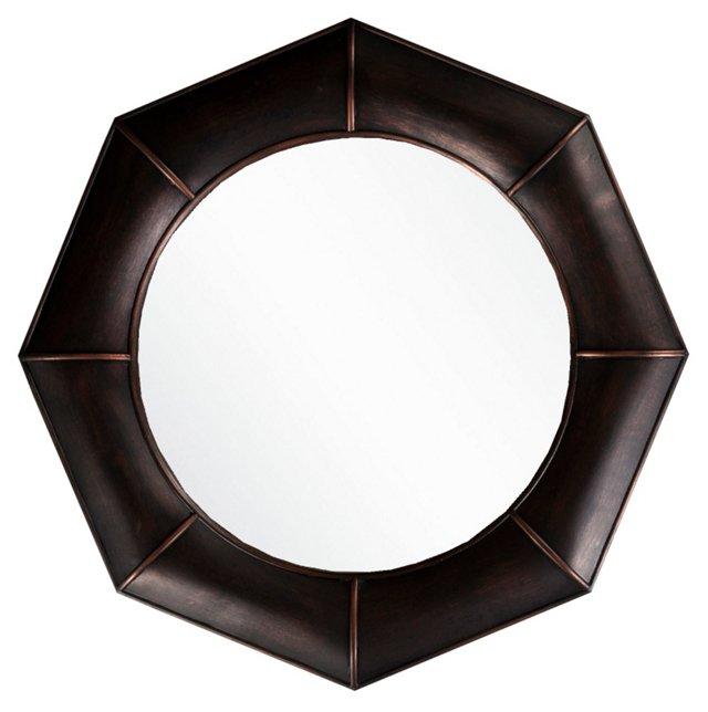 Bold Geo Wall Mirror, Bronze
