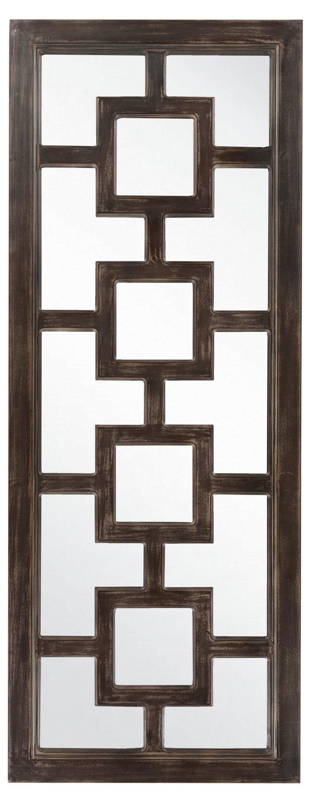 Geo Floor Mirror, Black