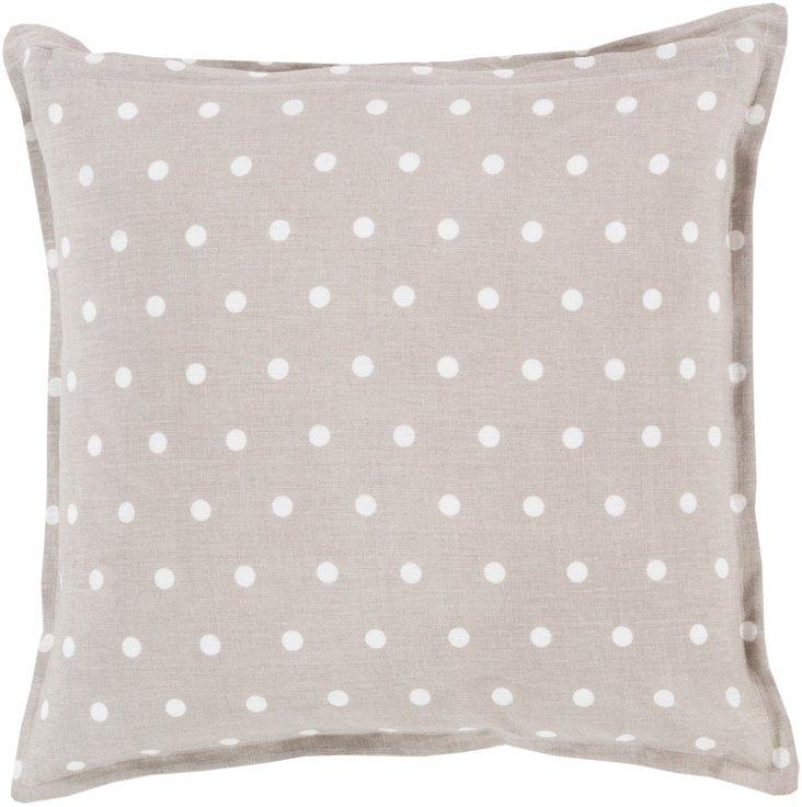 Dots Linen Pillow, Natural