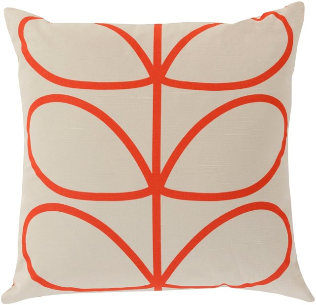Mod Botanic 18x18 Pillow, Red
