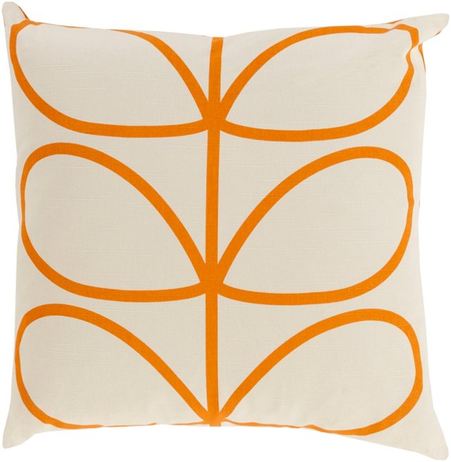 Mod Botanic 18x18 Pillow, Orange